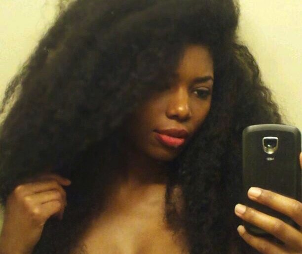 Braid Out On Transitioning Hair